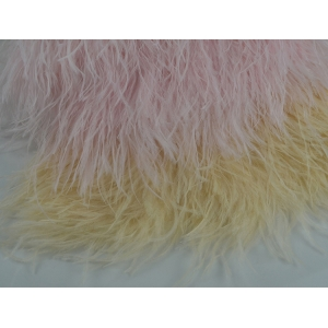 Wholesale Pink Ostrich Feather Trimming Factory Provide For Wedding Dress