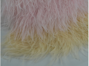 China Wholesale Pink Ostrich Feather Trimming Factory Provide For Wedding Dress factory