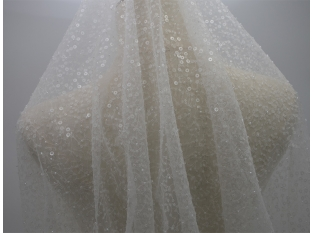 China Beaded Tulle, Sequin Tulle Fabric For Wedding Dress, Evening Gowns factory